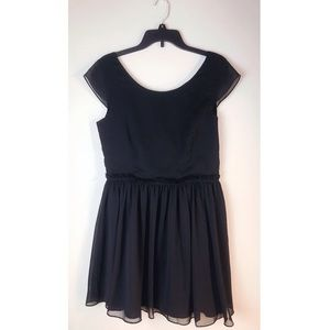 Aritzia Black Talula Cap Sleeve Dress